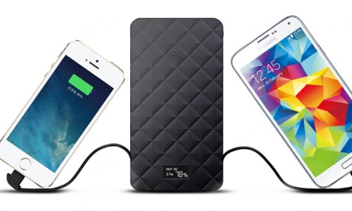 Extreme Trio 10000mAh battery pack w/ built-in charger cables, 41% off
