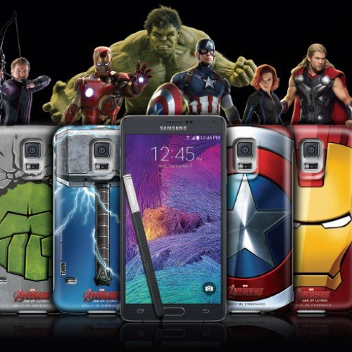 Receive 4 free limited edition Avengers cases with purchase of Samsung Galaxy Note 4