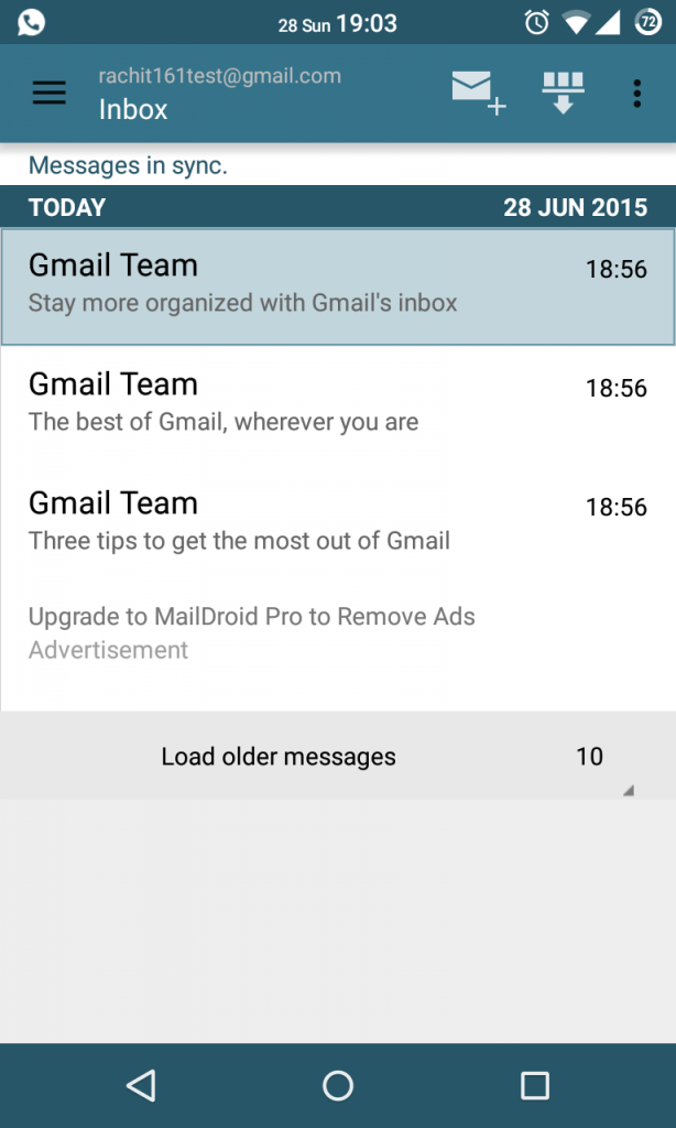 MailDroid Screenshot 2