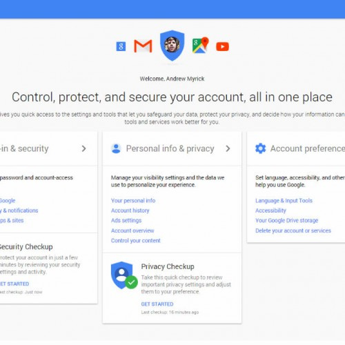 Google launches My Account for security and privacy controls