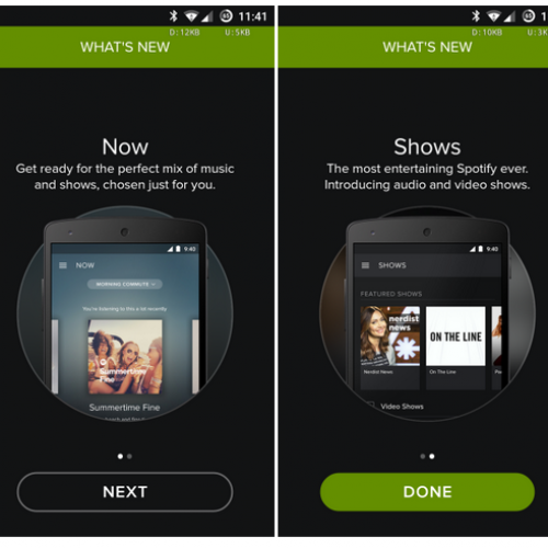 Spotify 3.1 Beta introduces new Now start page and running features [APK Download]