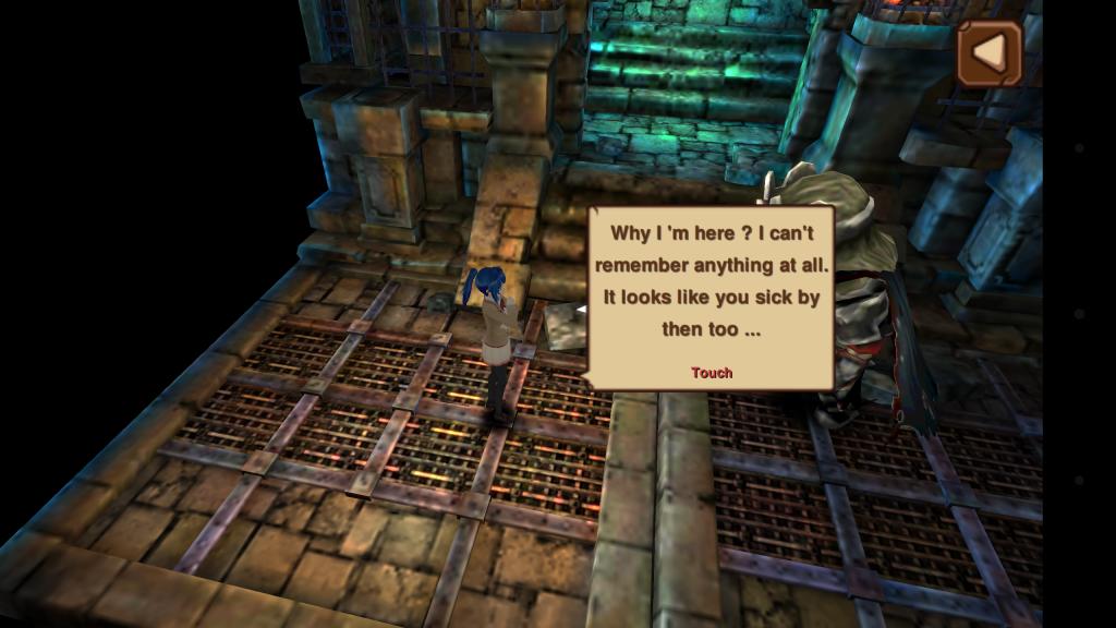 Screenshot of Knee Kick Girl's prologue