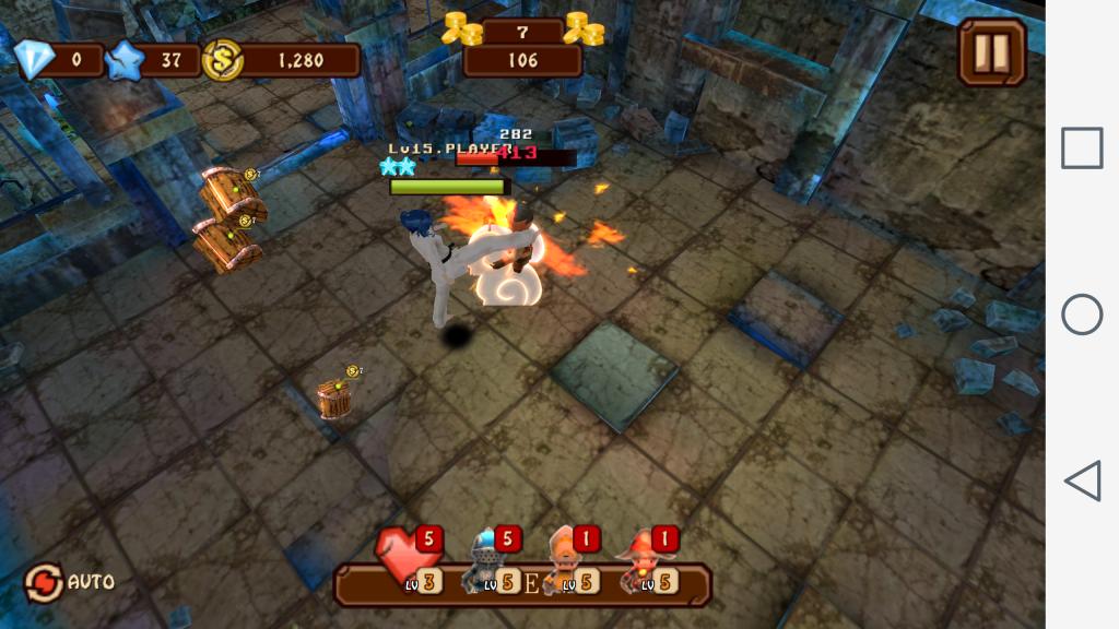 Gameplay within Knee Kick Girl