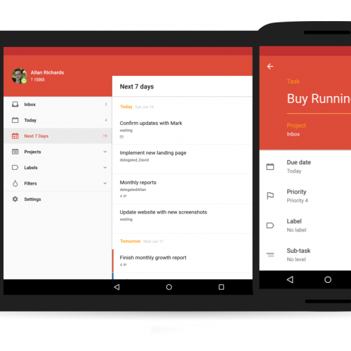 Todoist update brings material design makeover,themes, and easier task creation