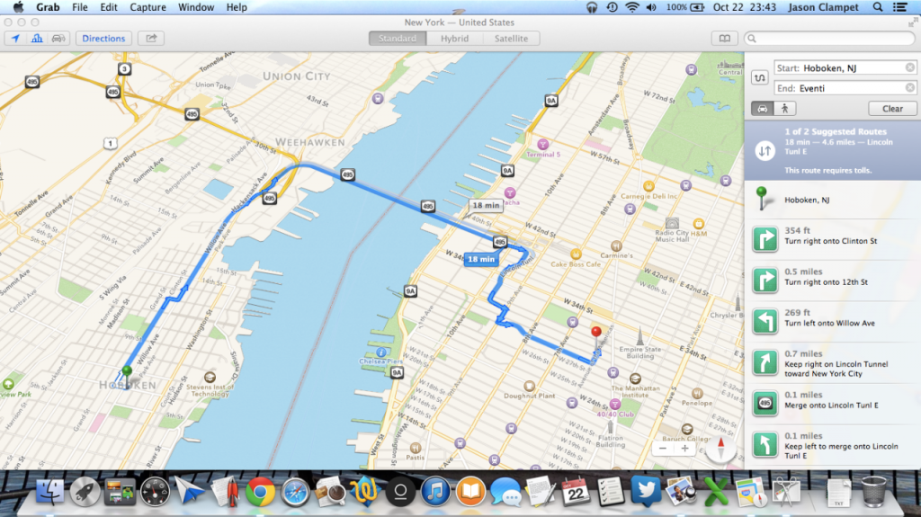apple maps mac