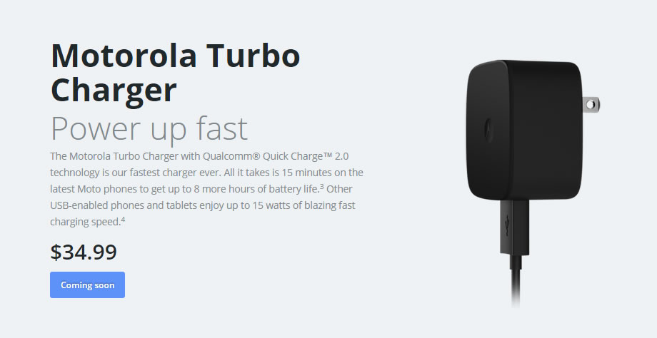 Motorola Turbo Charger on sale for $9.99 re-certified or ...
