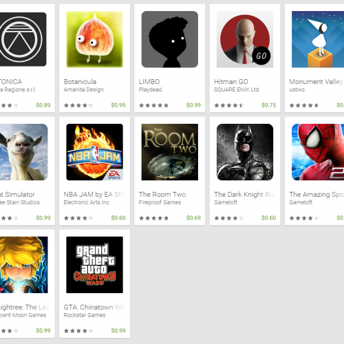 [Limited time offer] 90% off popular game titles in Google Play store