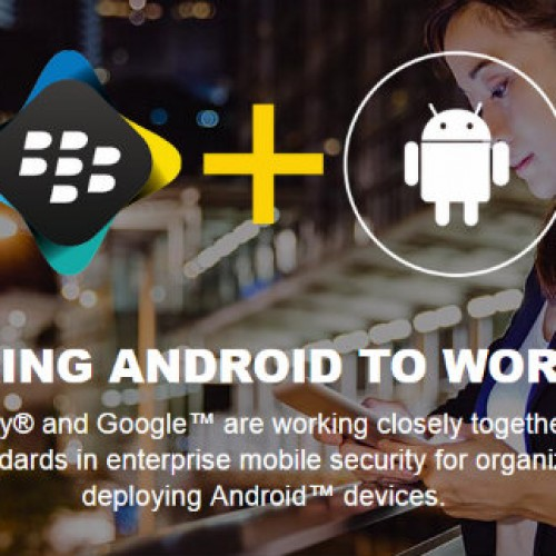 BlackBerry and Google announce BlackBerry Enterprise partnership