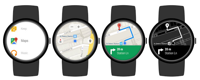 Google Maps Android Wear Update