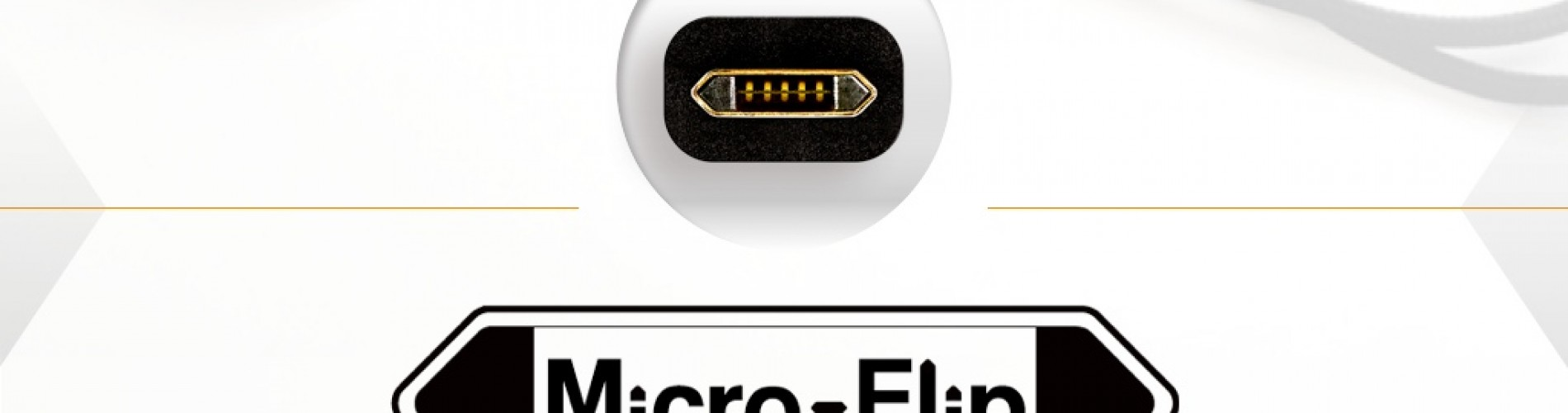 Micro-Flip brings reversible functionality to the microUSB standard