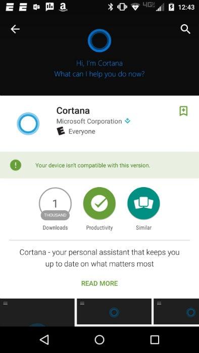 Cortana Compatibility