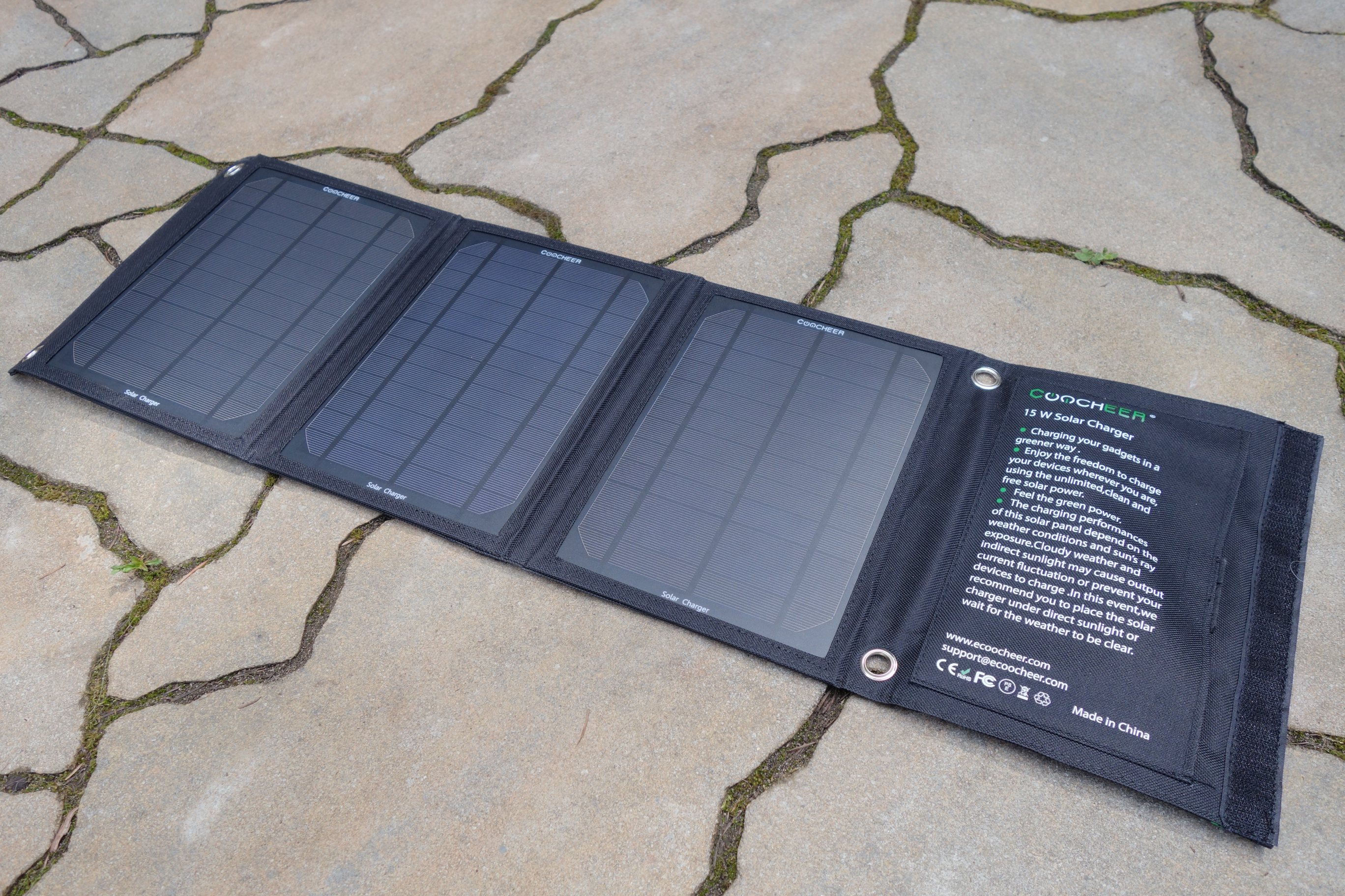 Coocheer 15w Solar Panel Charger Review
