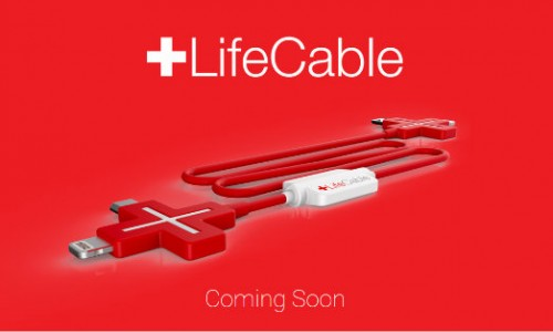 LifeCable enables direct charging from an Android or iPhone