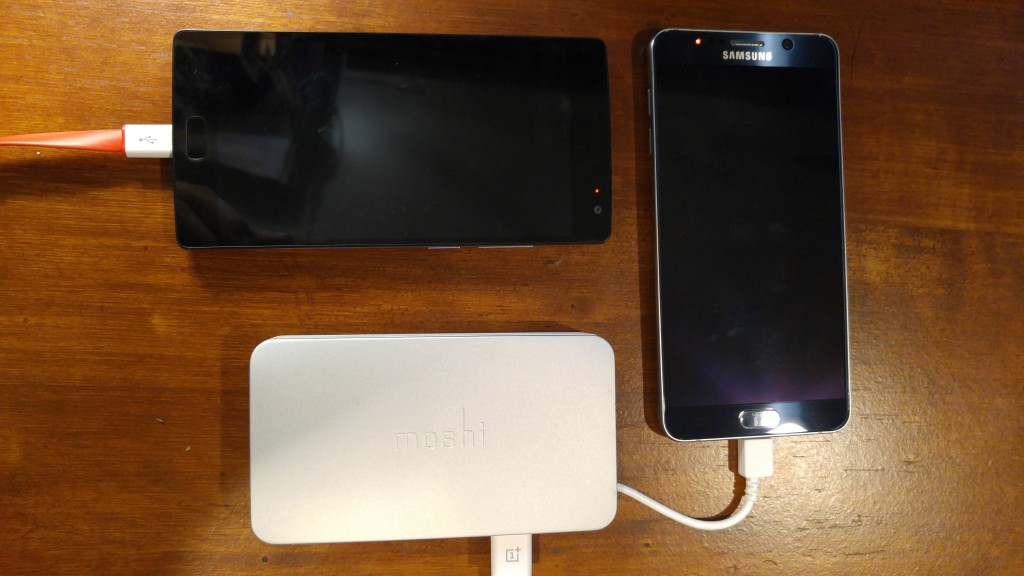 Moshi IonBank 5K charging