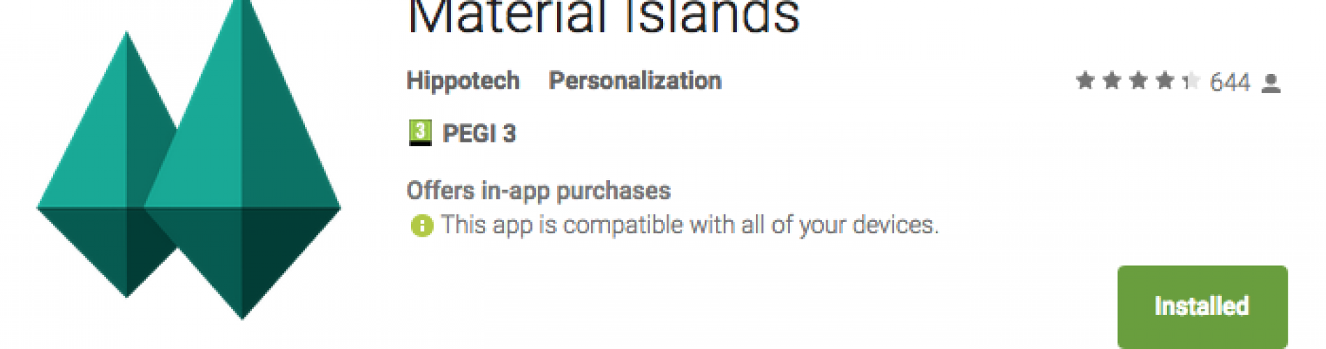 Get This Look: 'Material Islands' Live Wallpaper