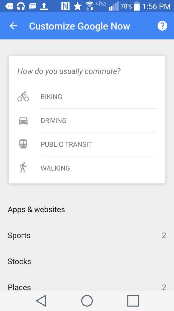 An example of customizing Google Now cards