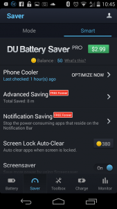 how to use du battery saver