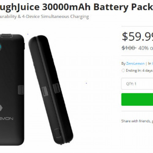 Grab this ZeroLemon ToughJuice Battery Pack to keep your devices charged on the go