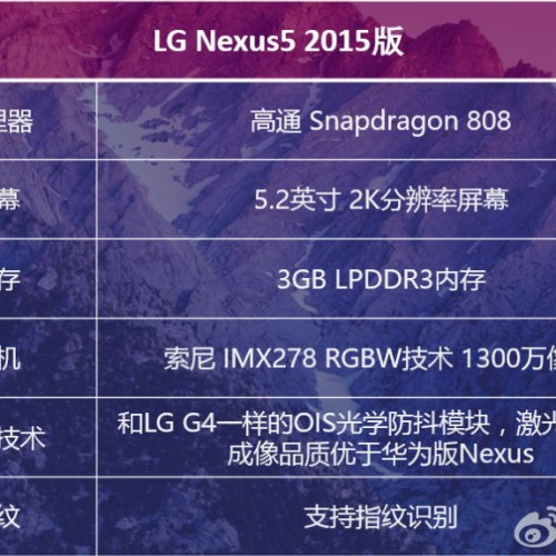 LG Nexus 5 2015 may be more affordable, leaked specs suggest