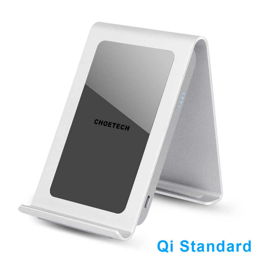 Choetech Iron Stand Wireless Charger 3 Coil Charging Pad