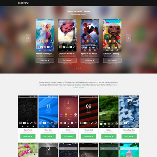 Sony releases new Theme Portal for Xperia devices