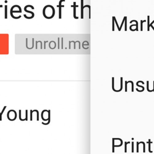 How To: Unsubscribe to emails in the Gmail app for Android