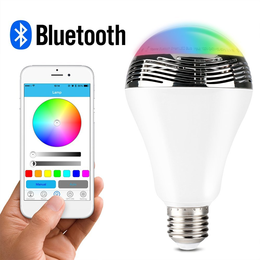 The light bulb that did it all the 1byone wireless bluetooth speaker rgb light bulb review Smart light bulbs