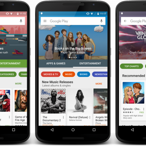 Google Play update teased with a brand new design
