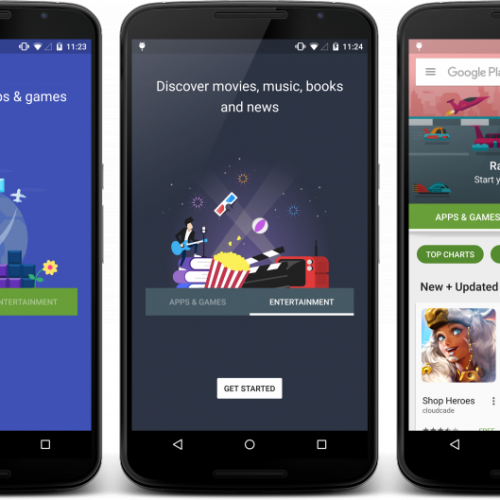 Google begins pushing the redesigned Google Play Store