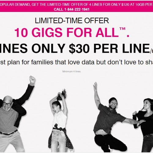 T-Mobile revives 10GB shared promo plan, limited-time only