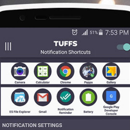 Add custom shortcuts to your notification tray with TUFFS (app review)