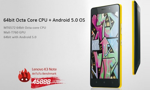 Order the powerful and unlocked Lenovo K3 Note at Gearbest.com for $150