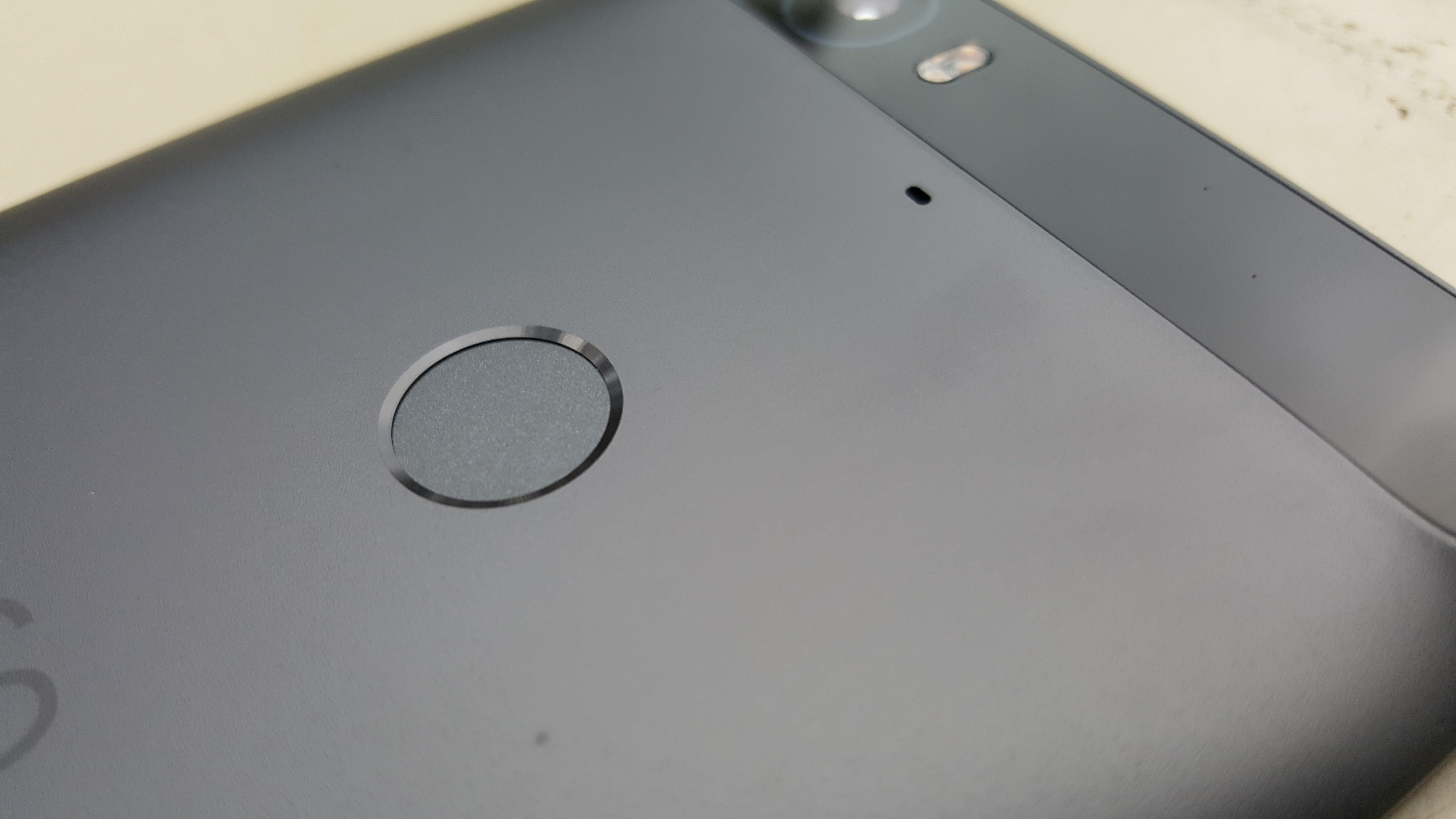 Nexus 6P fingerprint reader.