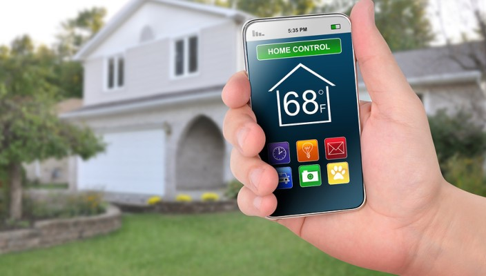 smart home control and monitoring system using smartphone. Black Bedroom Furniture Sets. Home Design Ideas