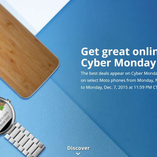 Motorola dangles big discounts for Cyber Monday