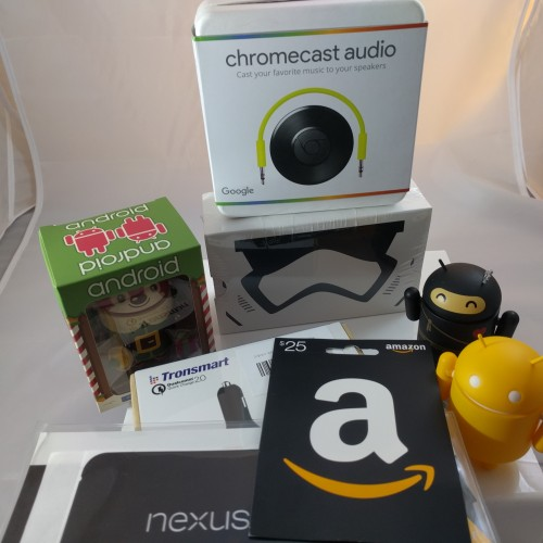 We are giving away the ultimate gift package! An Amazon gift card, Chromecast Audio, Star Wars Cardboard and more