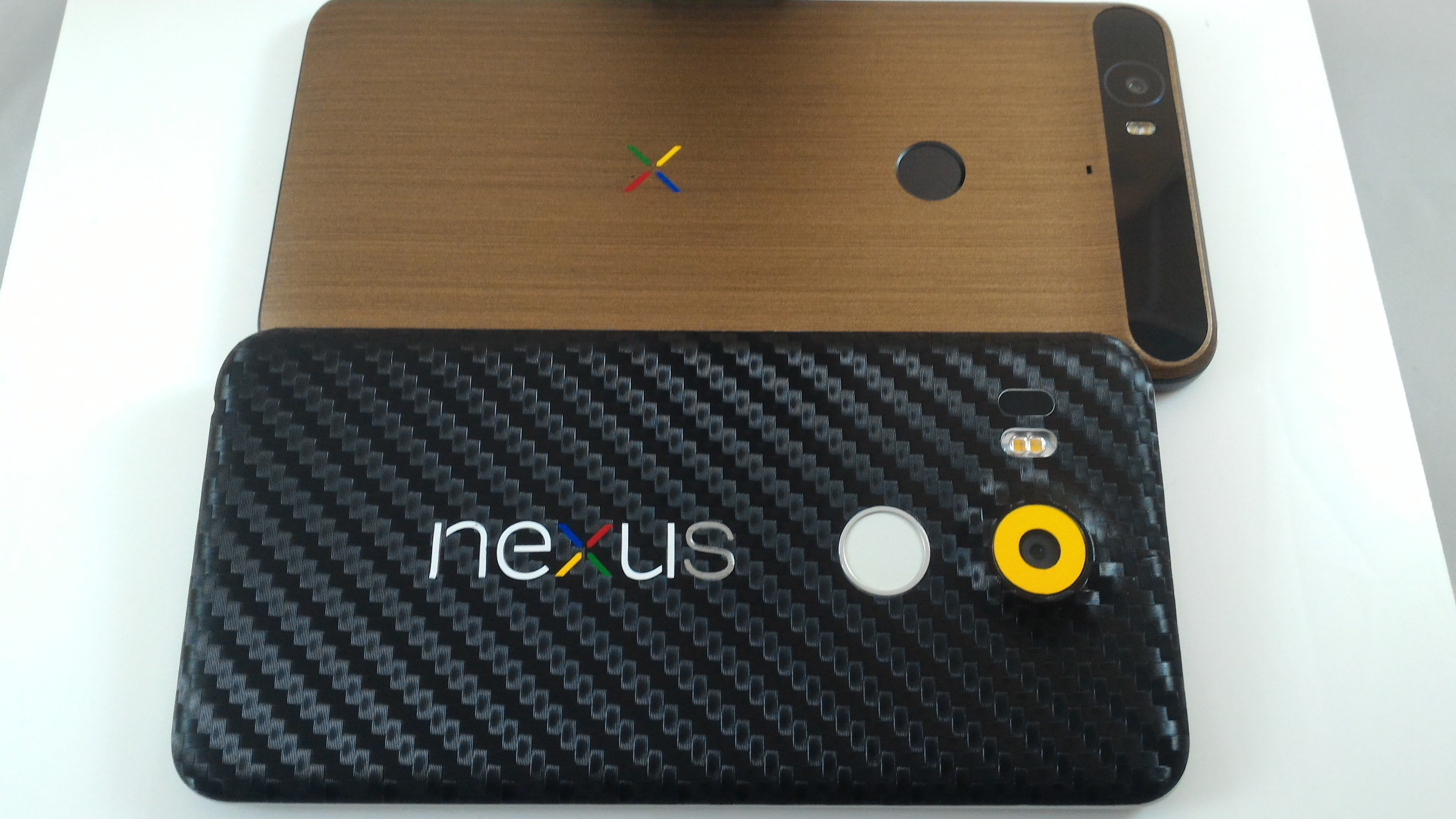 Nexus 6P in copper and the Nexus 5X in carbon fiber.