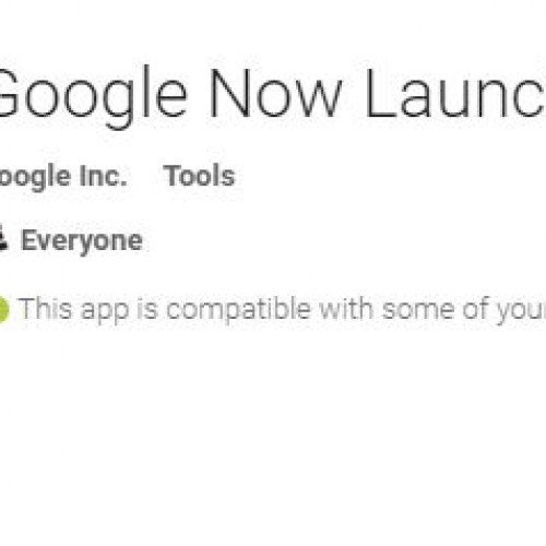 Google Now Launcher set to allow home screen rotation