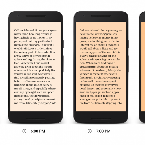 Google Play Books introduces Night Light to help you sleep better