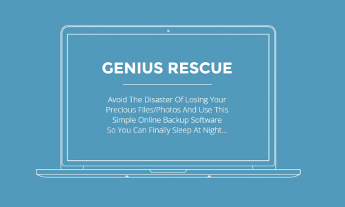 Make sure all your important files are backed up with the help of Genius Rescue