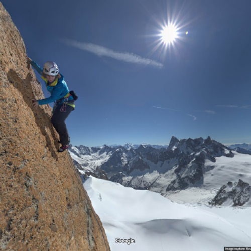 Explore Mount Blanc with Google Street View