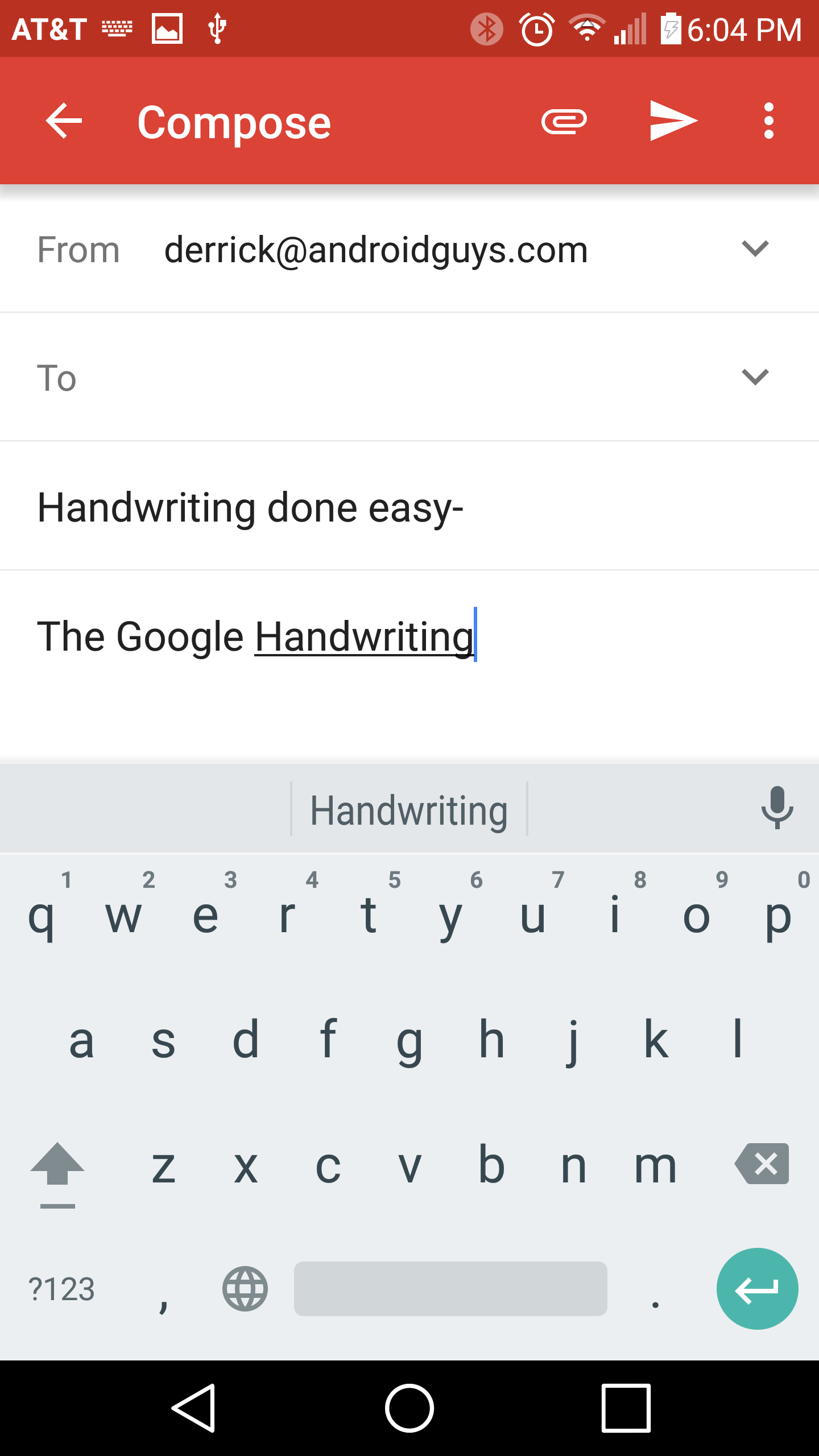 How to use Google Handwriting Input as an alternative to typing on a