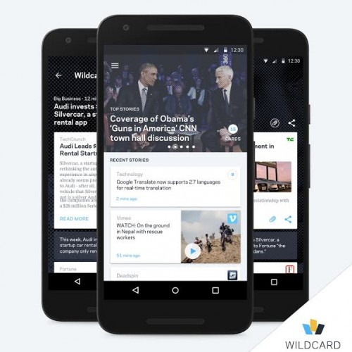 The award winning Wildcard news curating app is now available on Google Play