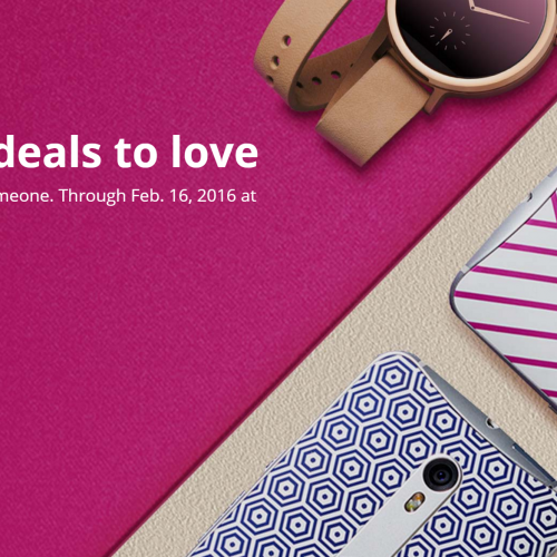 Motorola tries to capture your heart with deals through Valentine's Day