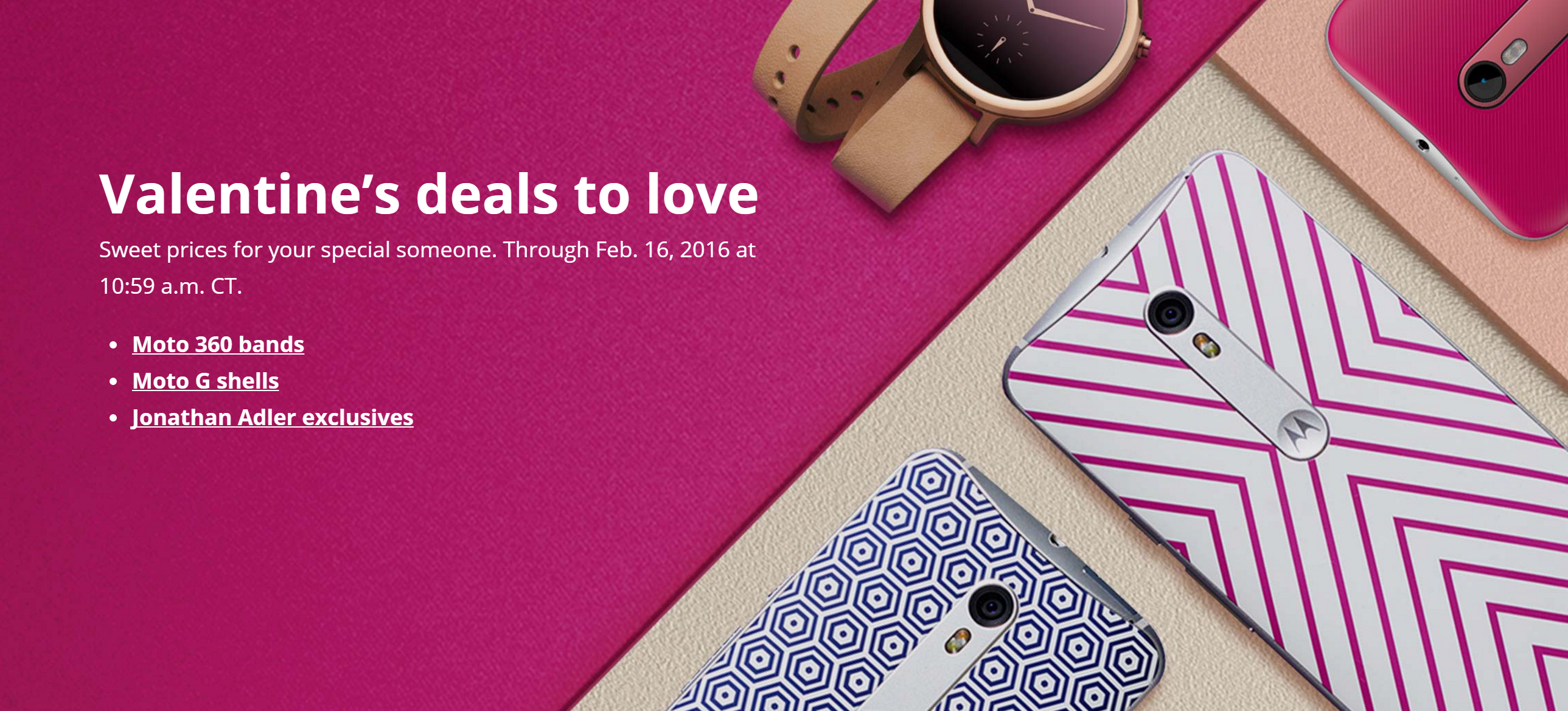 motorola tries to capture your heart with deals through, Ideas