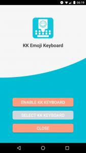 KK Emoji Keyboard Setup