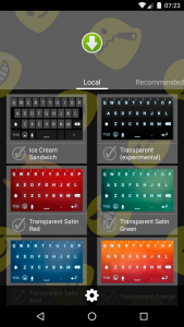 Smart Emoji Keyboard Main Screen