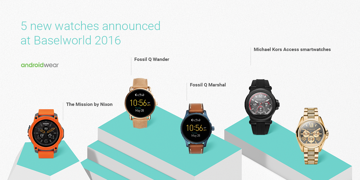 3d9d63a25 New Android Wear smartwatches from Fossil, Nixon and Michael Kors announced