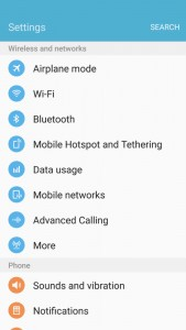 Galaxy S7 Edge Settings