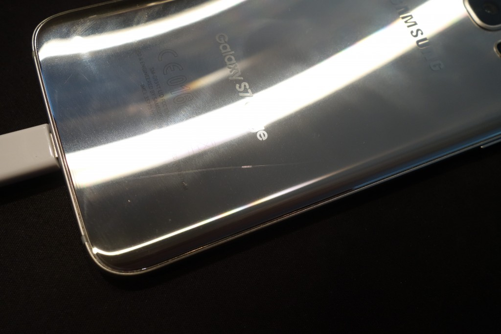 Long crack developed along the back glass of my S7 Edge, on its own